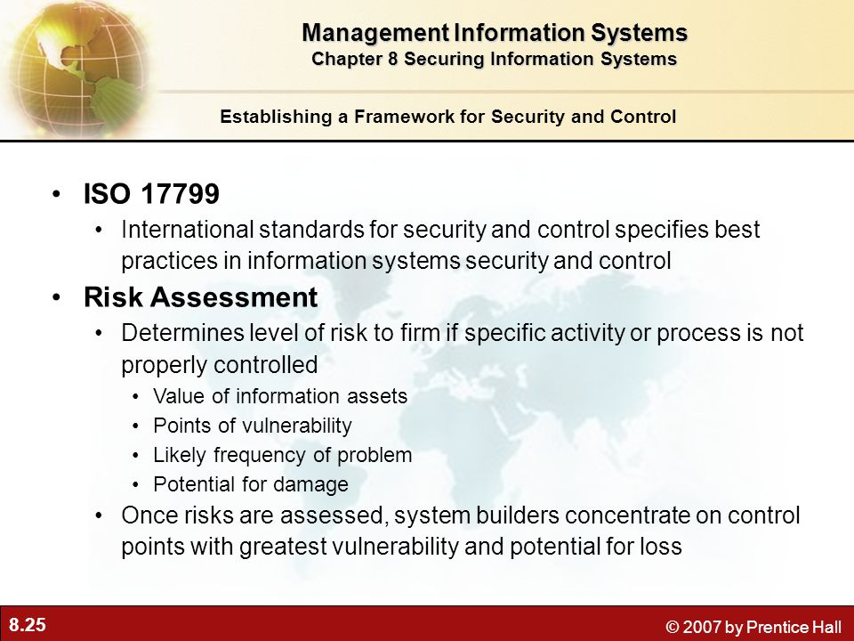 ISO 17799 Risk Assessment Management Information Systems