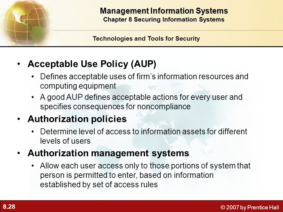 Acceptable Use Policy (AUP)