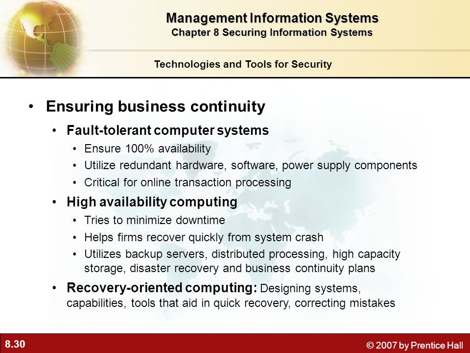 Ensuring business continuity