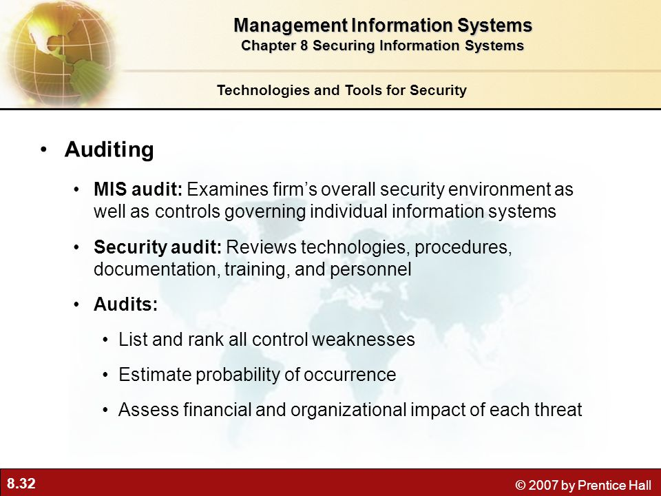 Auditing Management Information Systems