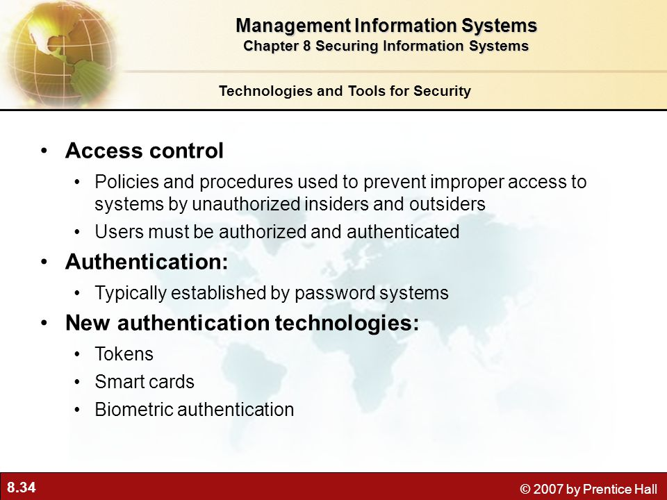 New authentication technologies: