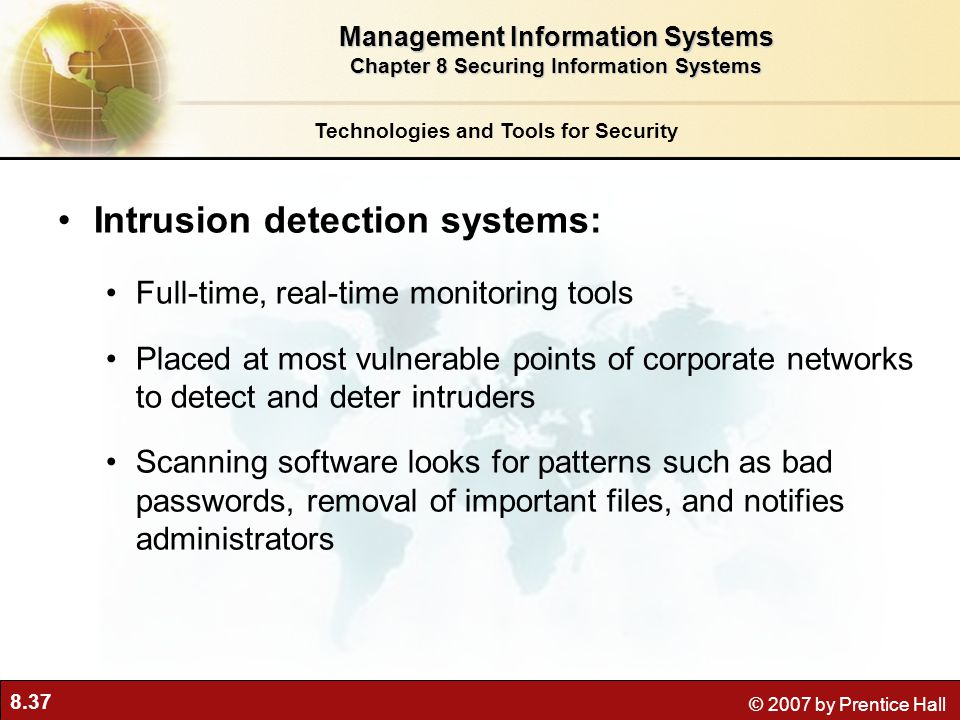 Intrusion detection systems: