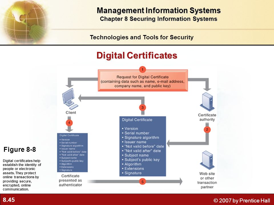 Digital Certificates Management Information Systems Figure 8-8