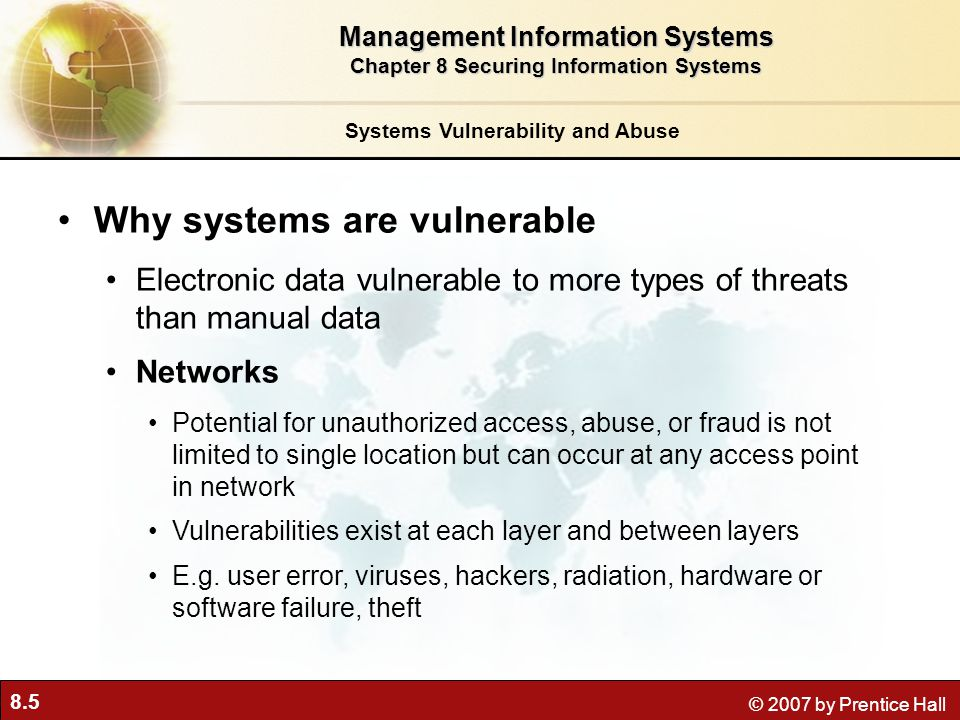 Why systems are vulnerable