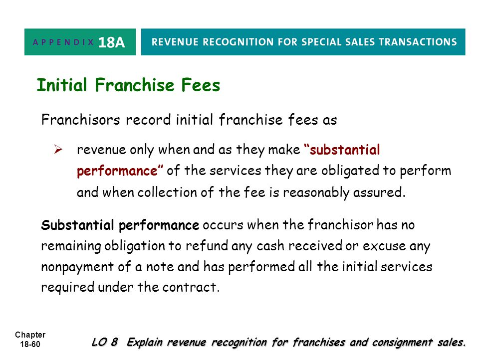 Initial Franchise Fees