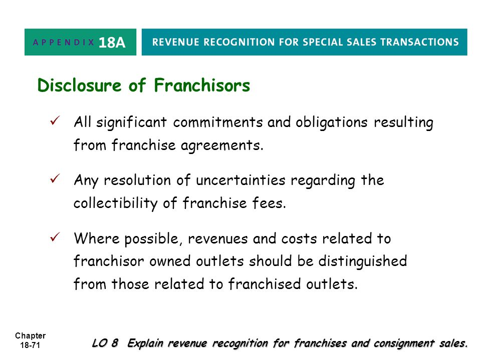 Disclosure of Franchisors