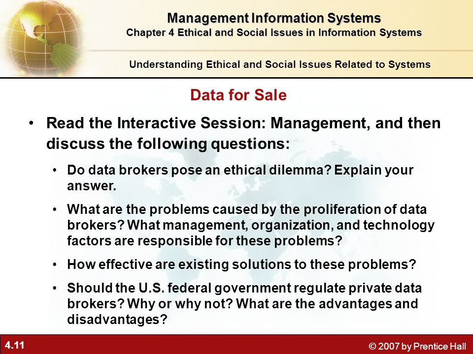 Ethical and social issues in information systems essay