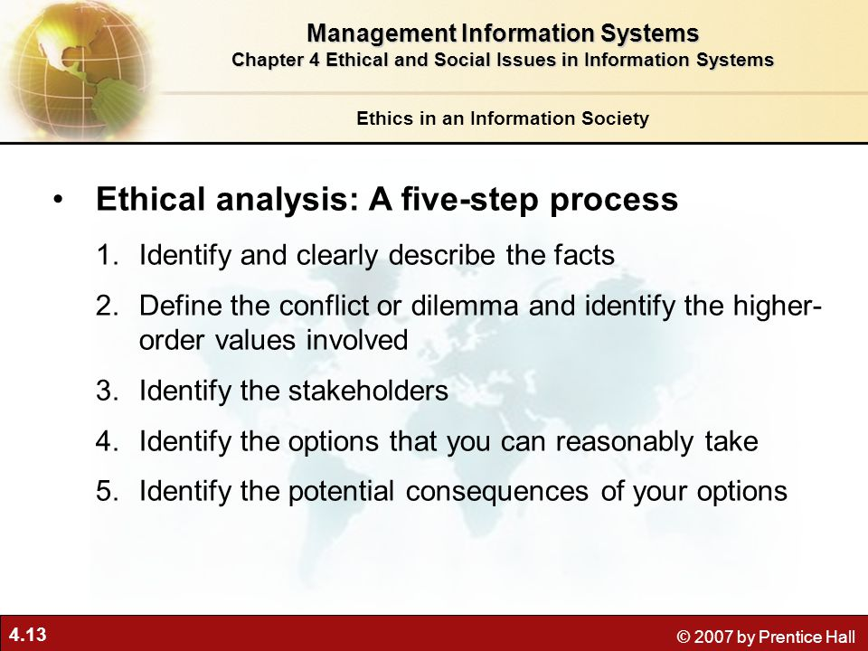 Ethical analysis: A five-step process