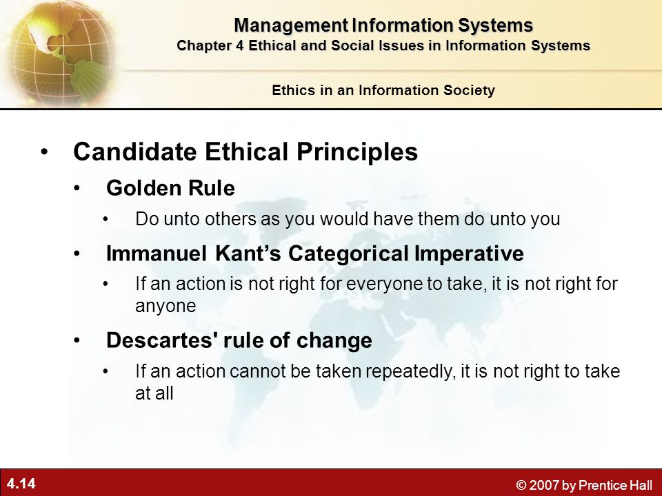 candidate ethical principles Authorities six candidate ethical principles golden rule do unto others as you from info 3130 at unc charlotte.