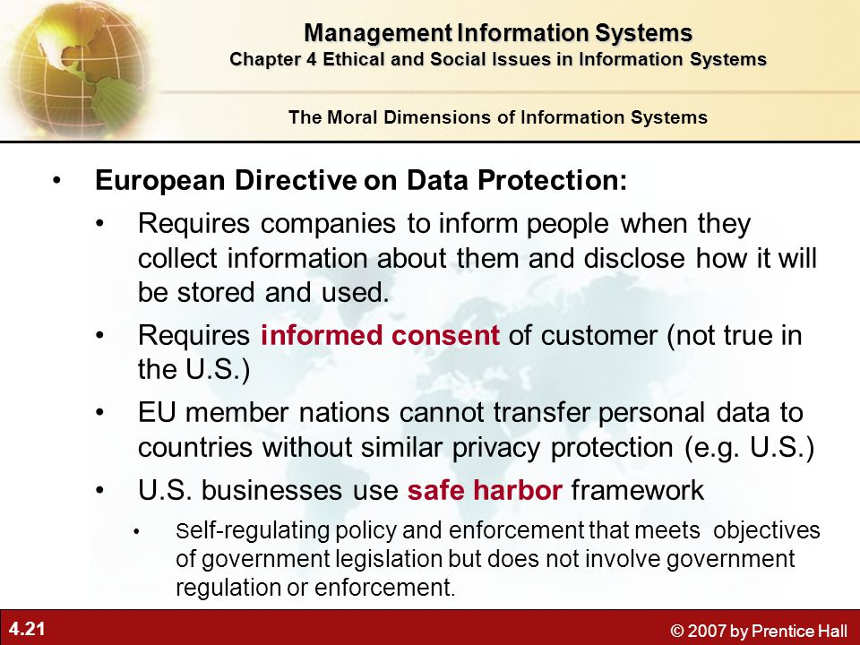 European Directive on Data Protection: