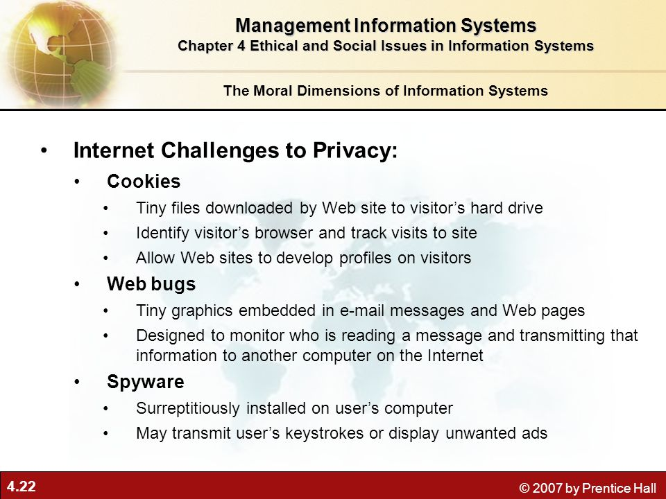 Internet Challenges to Privacy: