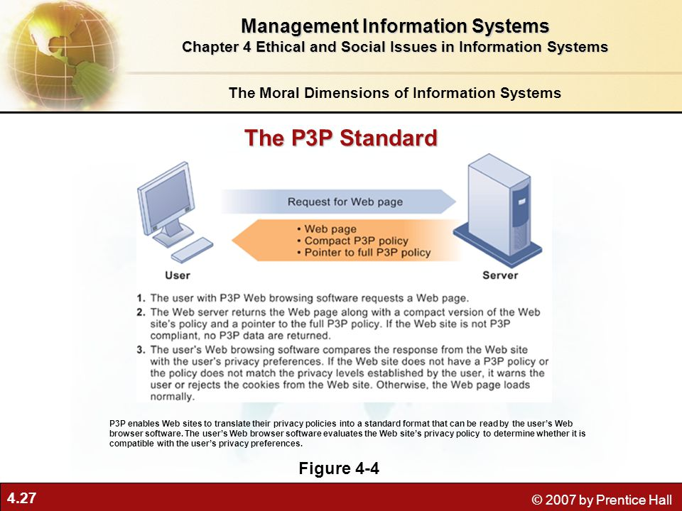 The P3P Standard Management Information Systems Figure 4-4