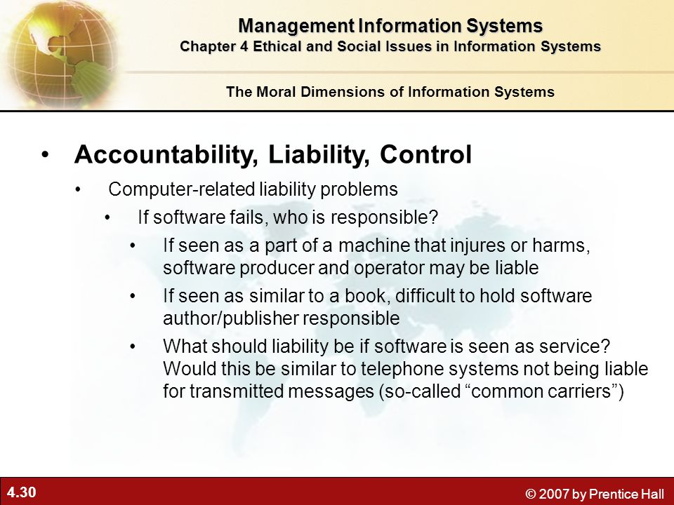 Accountability, Liability, Control