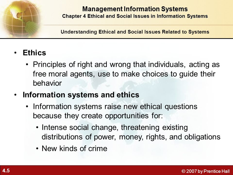 Information systems and ethics
