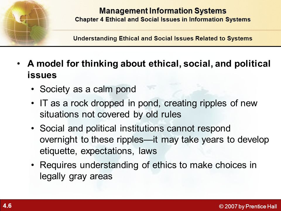 A model for thinking about ethical, social, and political issues