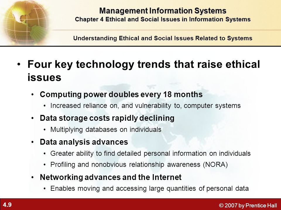 Ethical And Social Issues In Information Systems Ppt