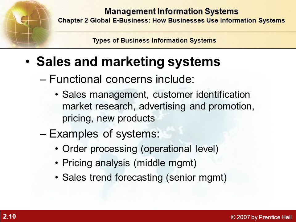 Sales and marketing systems