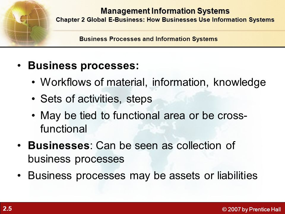 Workflows of material, information, knowledge