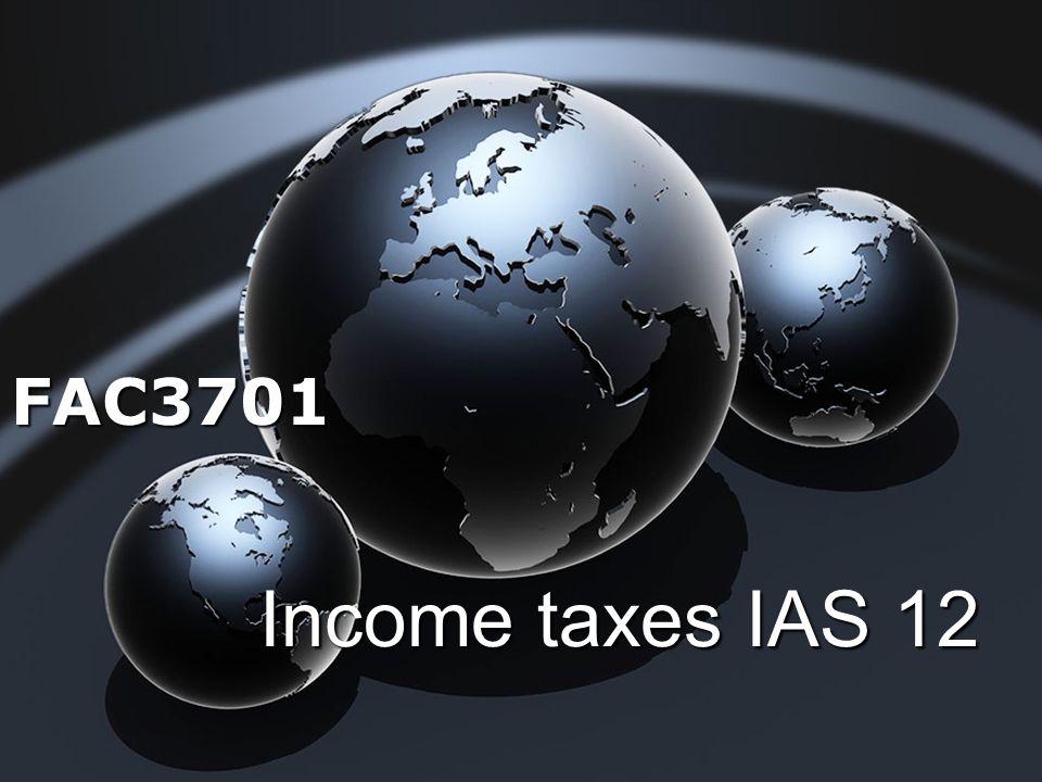 FAC3701 Income taxes IAS 12
