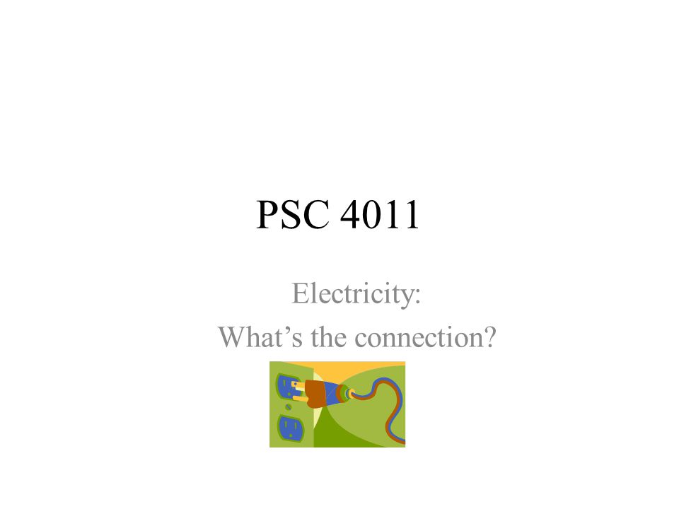 Electricity: What's the connection