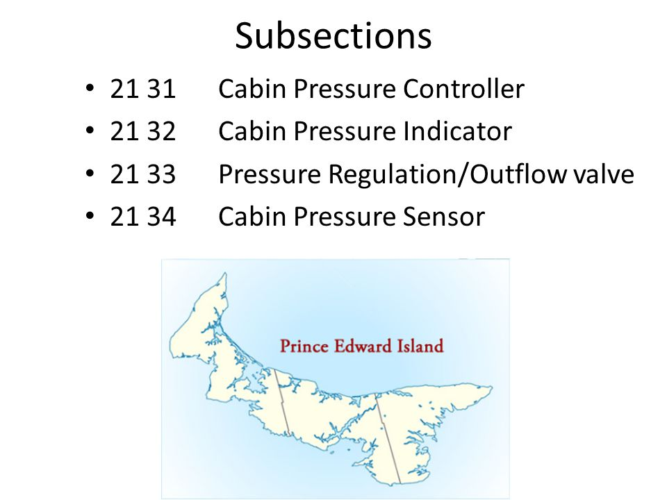 Subsections 21 31 Cabin Pressure Controller