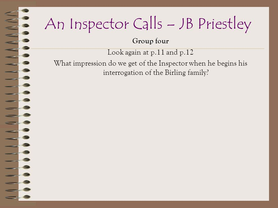 review of jb priestleys an inspector calls Jb priestley's whodunit about social responsibility, written in 1945 but set in the  death throes of the edwardian golden age, has had some of its.