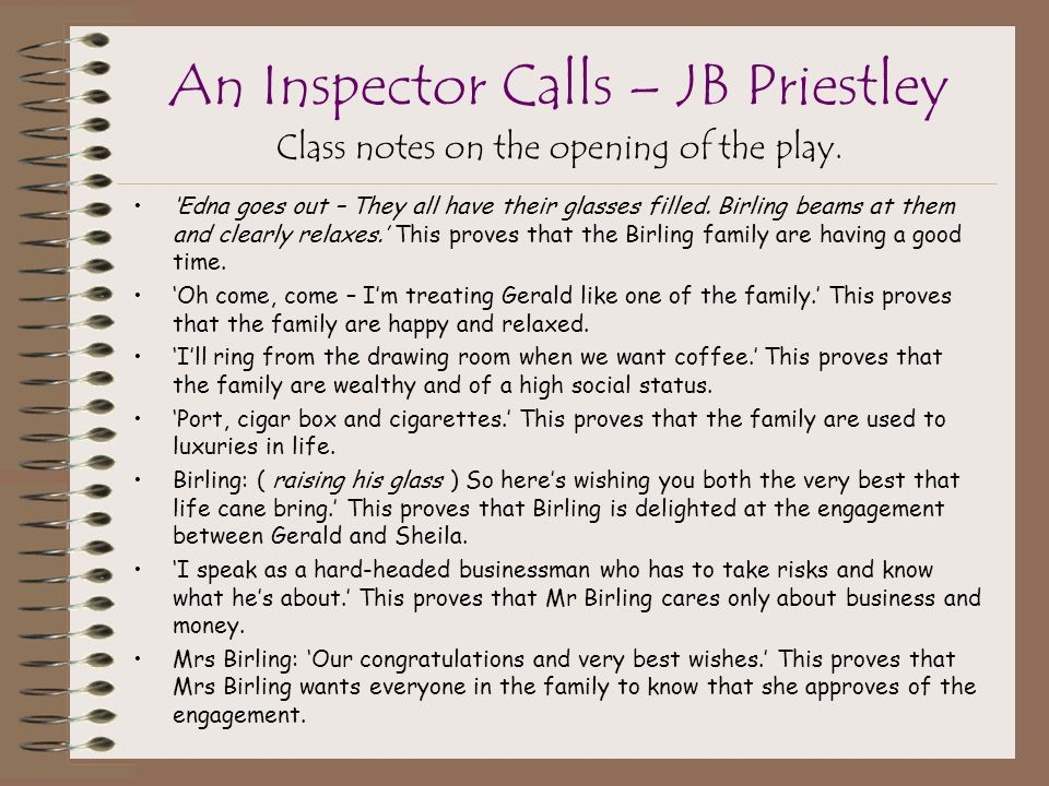 an inspector calls  u2013 jb priestley