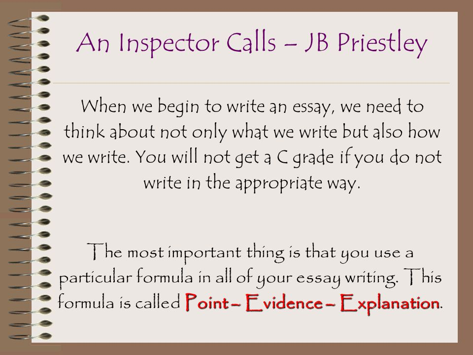 the inspector in an inspector calls essay 'an inspector calls has been called a 'play of contrasts' write about how priestley presents some of the contrasts in the play' priestley presents the contrasts in the play 'an inspector calls' in many ways.