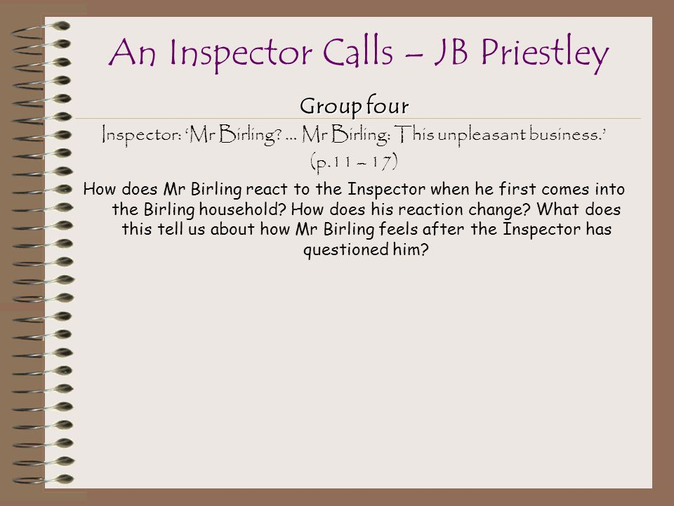 a review of an inspector calls a play by jb priestley An inspector calls - heinemann plays for 14-16+ (hardback) j b priestley ( author) 3 reviews sign in to write a review £999.