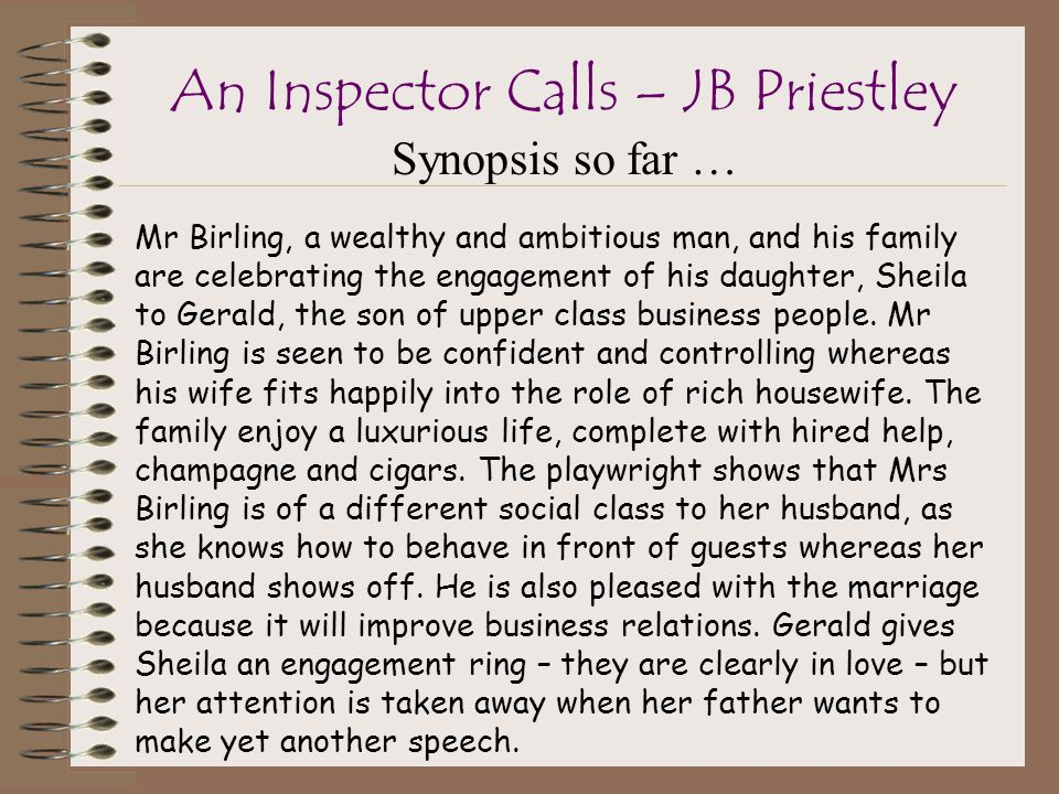 An inspector calls: inspector goole quotes