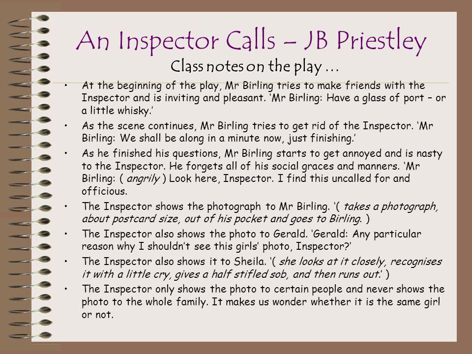 An Inspector Calls – JB Priestley