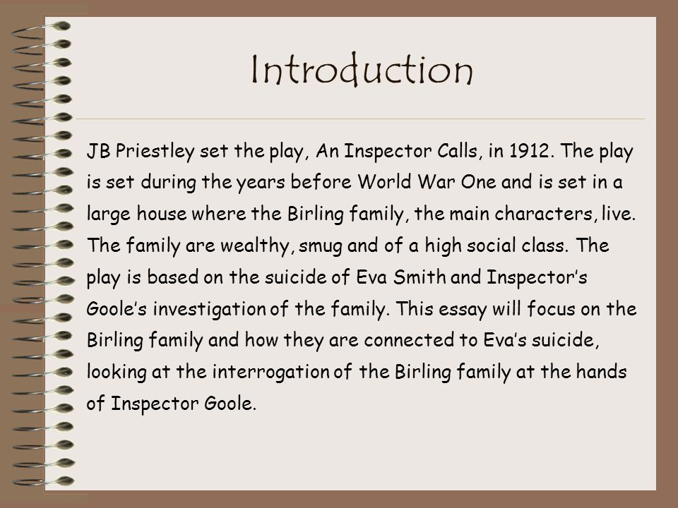 an inspector calls jb priestley ppt  74 introduction