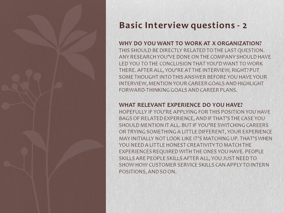 Basic Interview questions - 2