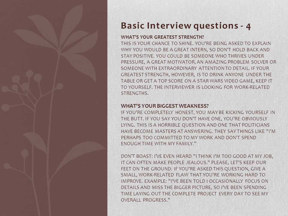 Basic Interview questions - 4