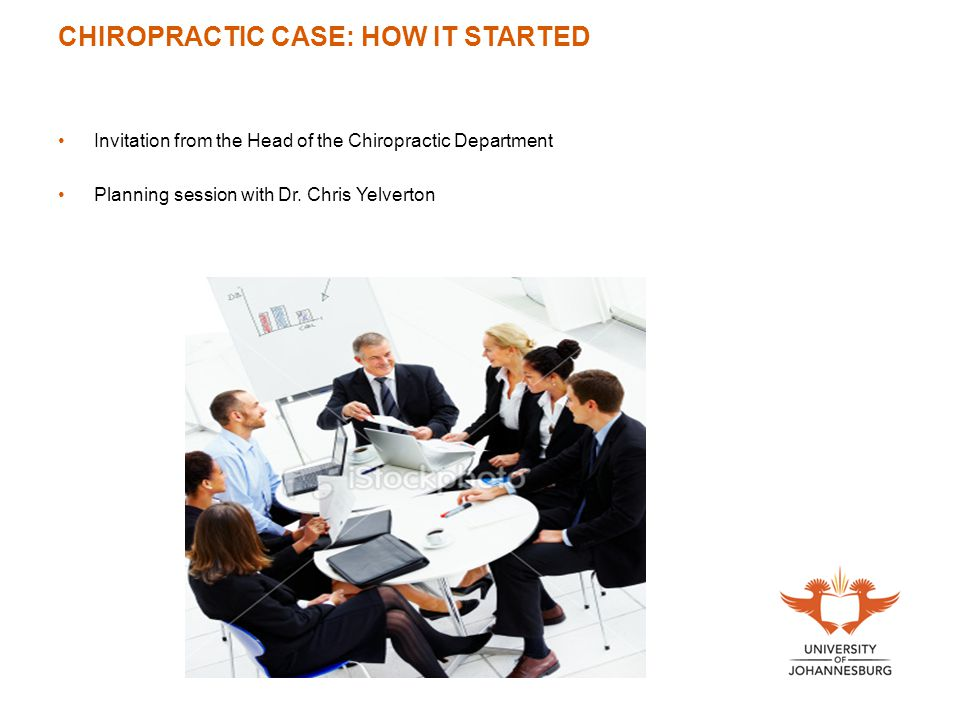 CHIROPRACTIC CASE: HOW IT STARTED