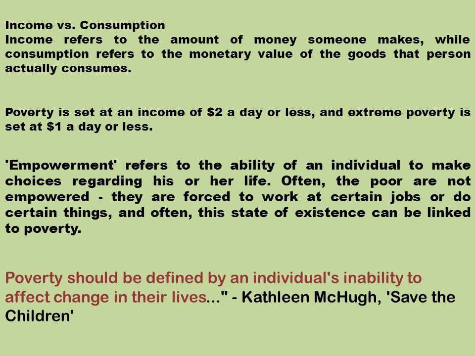 Income vs. Consumption