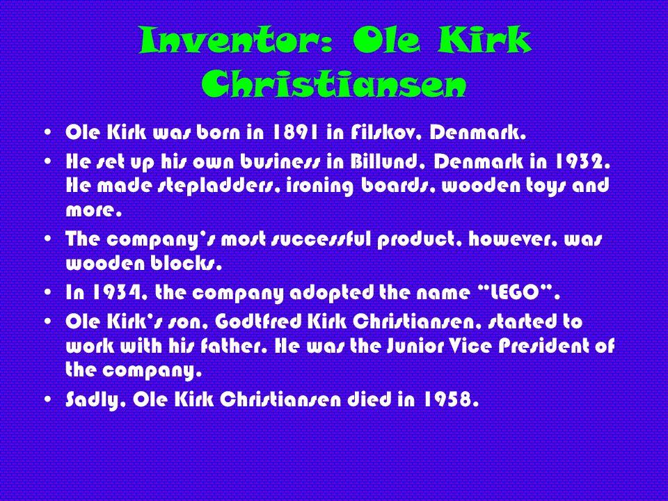 Inventor: Ole Kirk Christiansen