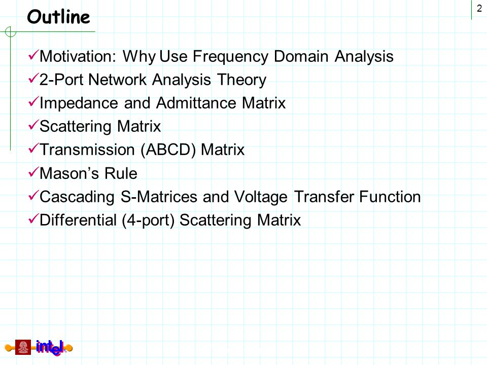 Outline Motivation: Why Use Frequency Domain Analysis