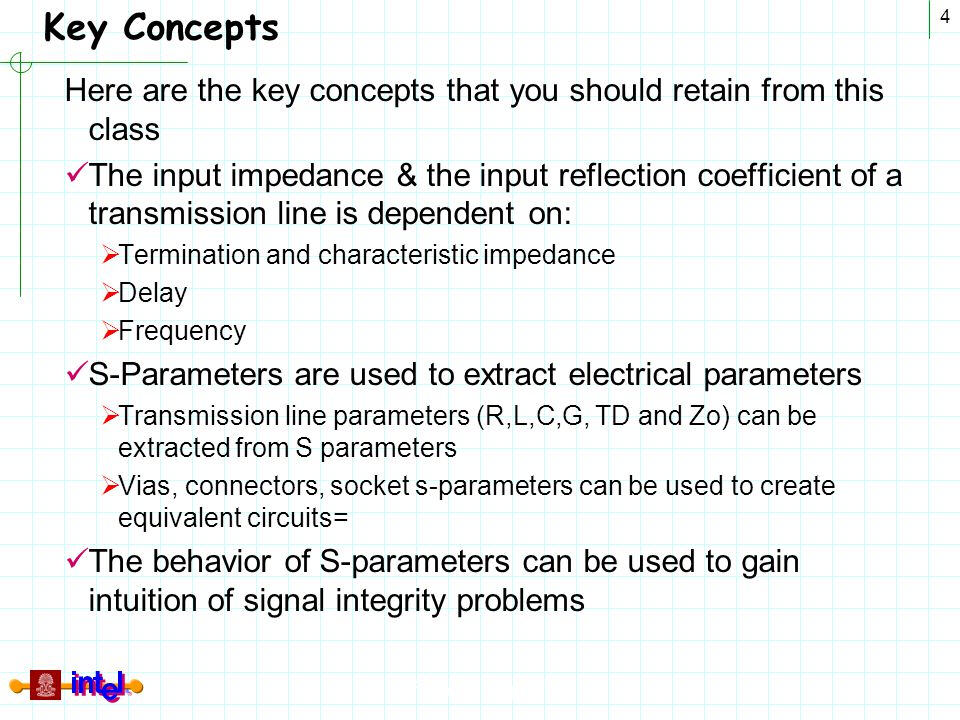 Key Concepts Here are the key concepts that you should retain from this class.