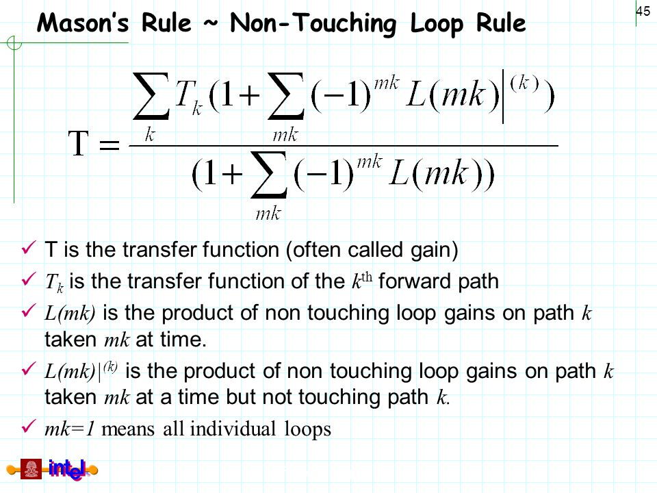 Mason's Rule ~ Non-Touching Loop Rule