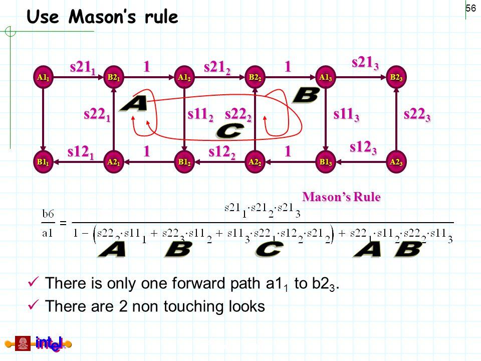 B A C A B C A B Use Mason's rule 1 s121 s221 s211 s123 s213 s113 s223