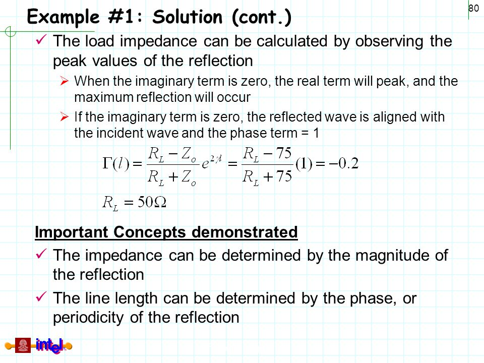 Example #1: Solution (cont.)