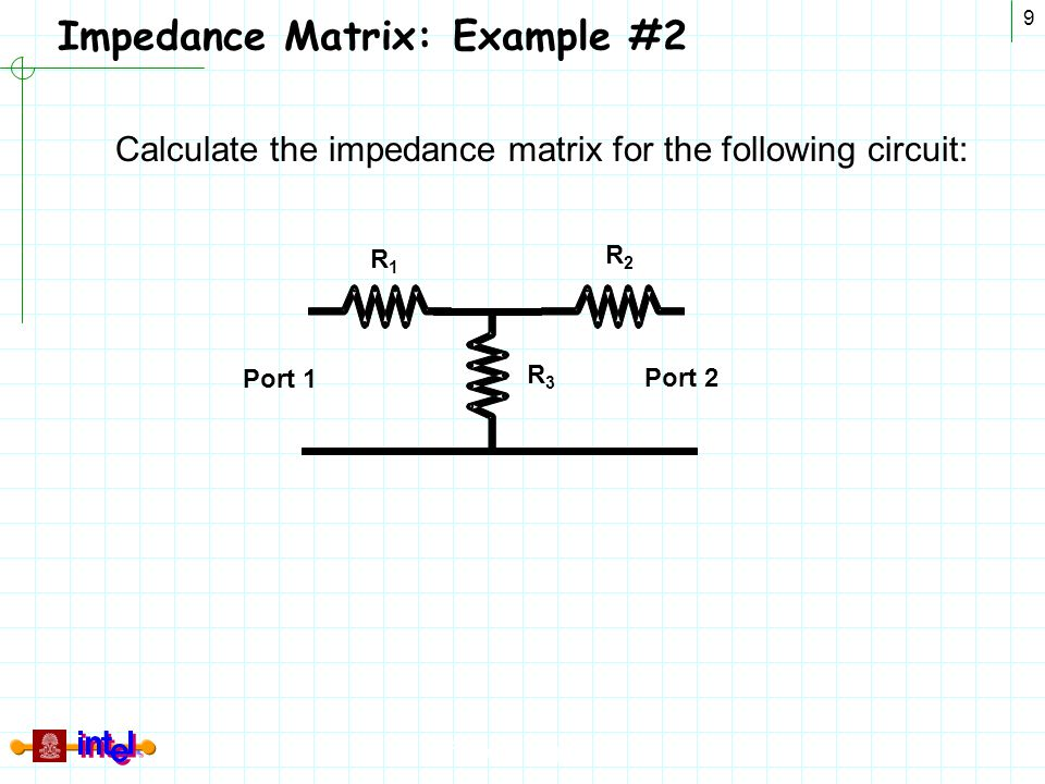Impedance Matrix: Example #2