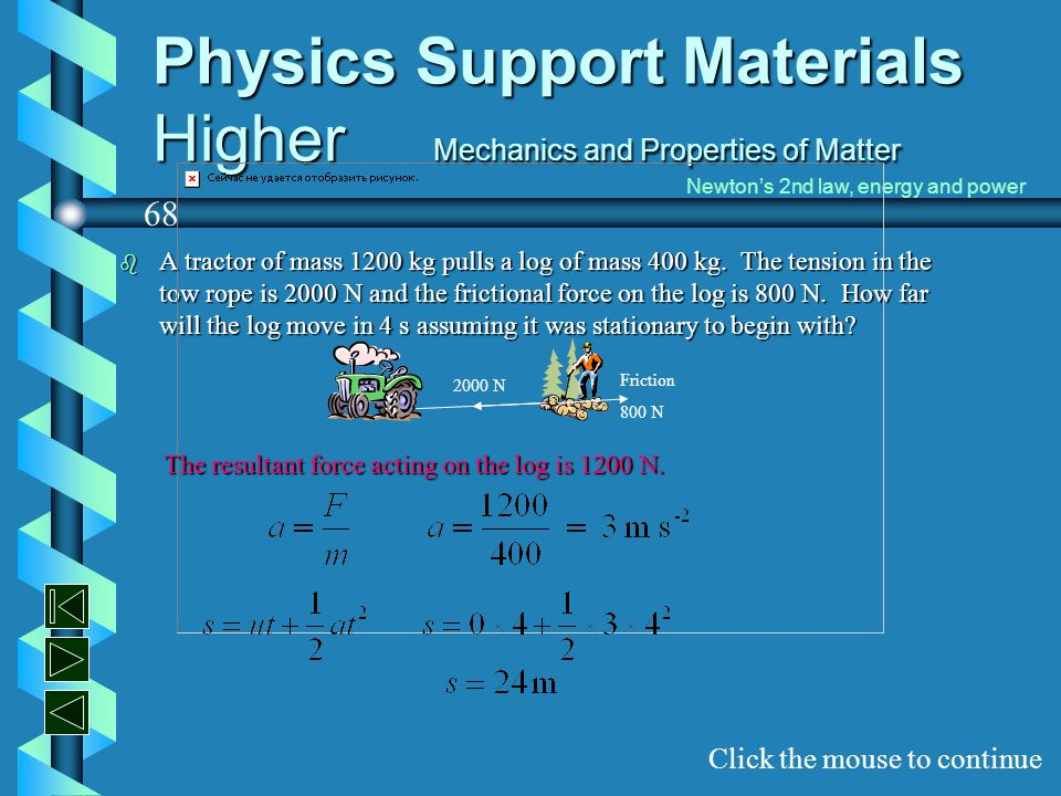 Physics Support Materials Higher Mechanics and Properties of Matter