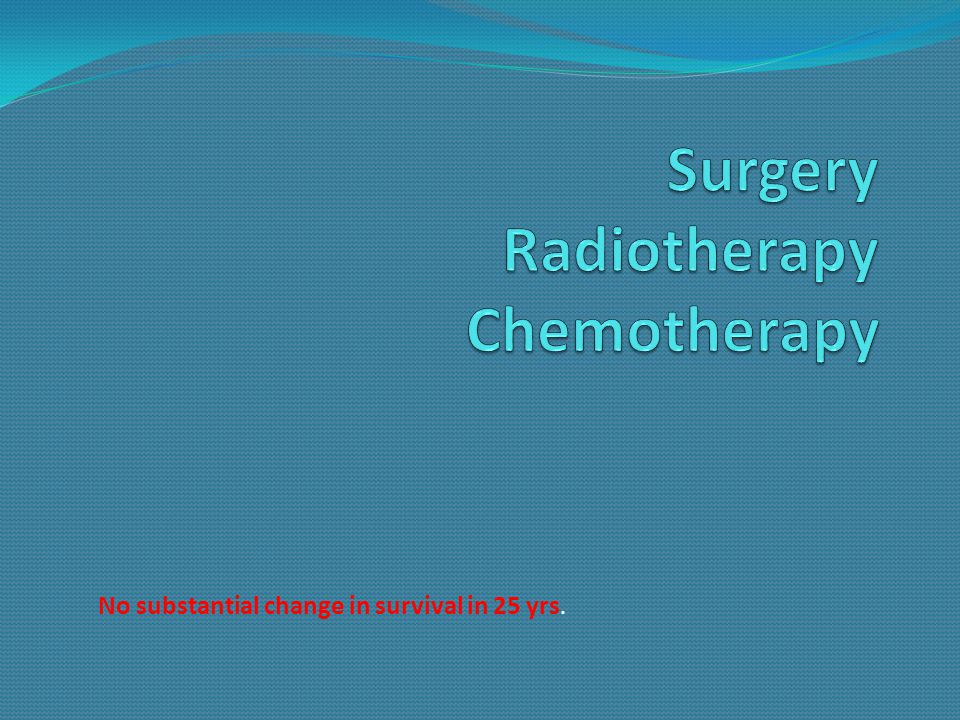Surgery Radiotherapy Chemotherapy