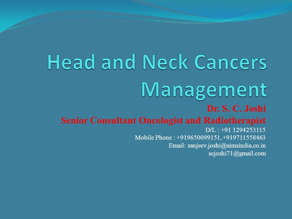 Head and Neck Cancers Management