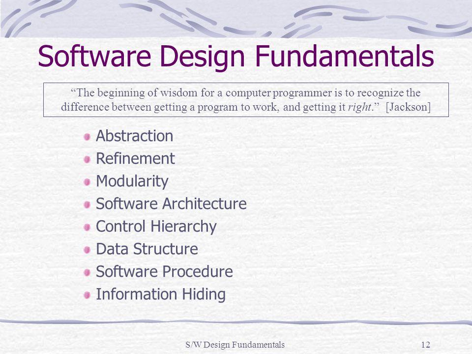 Software Design Fundamentals