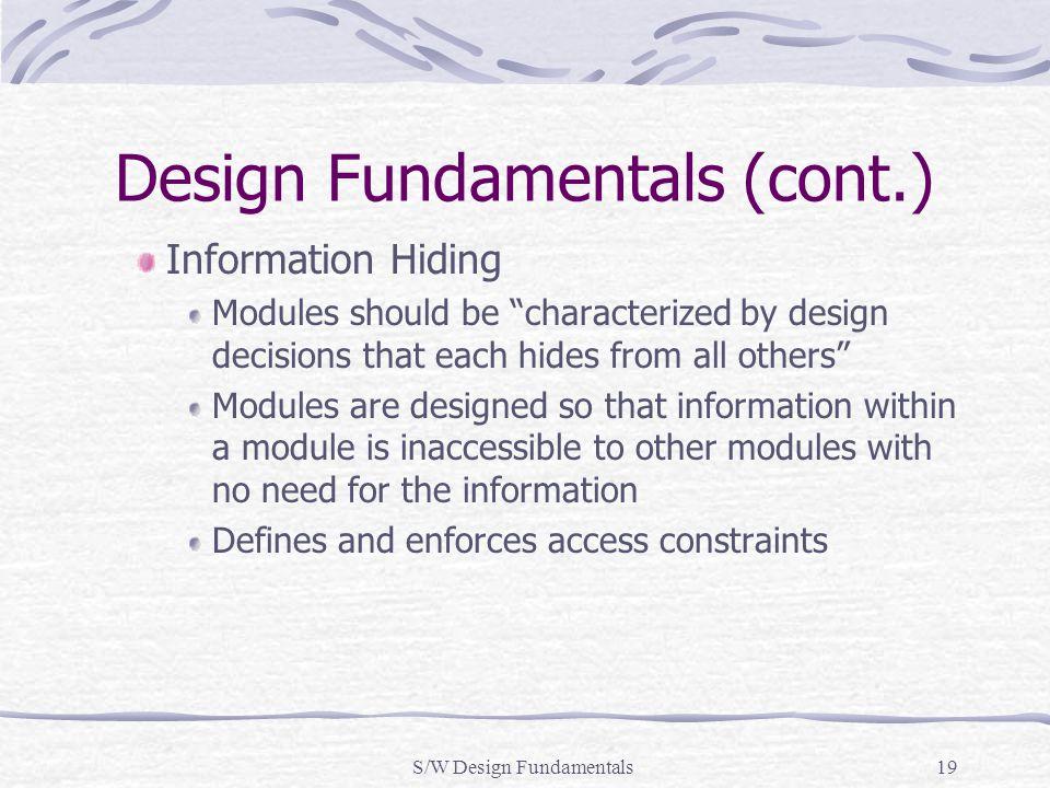 Design Fundamentals (cont.)