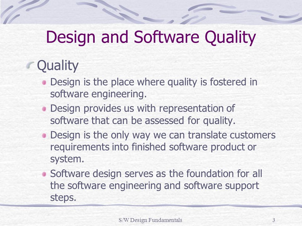Design and Software Quality