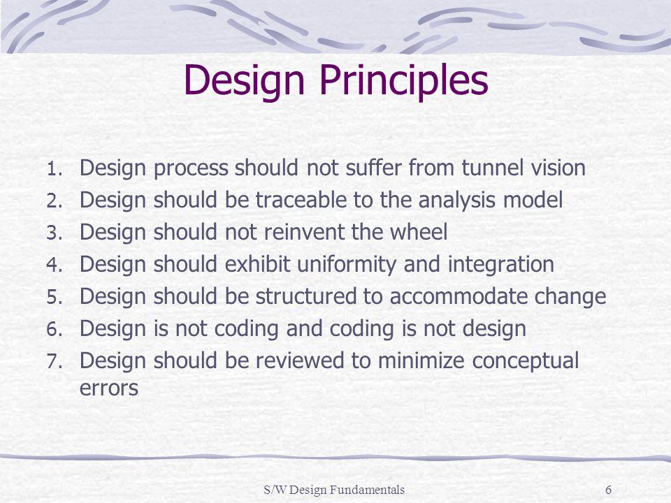 S/W Design Fundamentals